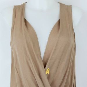 ALC  Brown Plunging V-Neckline Tank Size Small